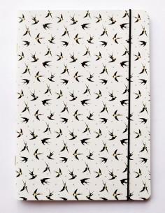 Libreta handmade Fly Swallow