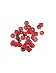 Lentejuela plateada rojo
