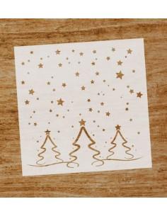 Stencil Árboles de Navidad