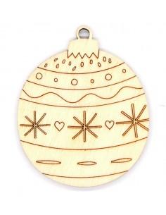Silueta madera Bola Navidad