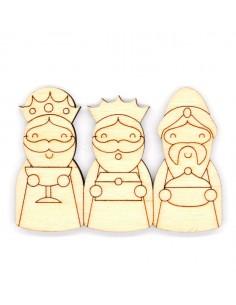Silueta madera Reyes Magos