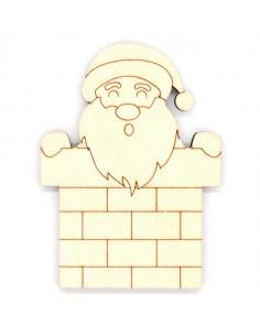 Silueta madera Papá Noel