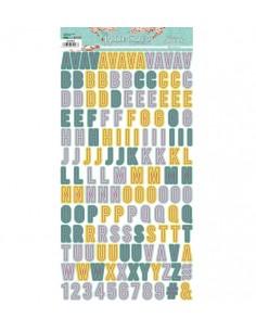 Alfabeto mini chipboard The...