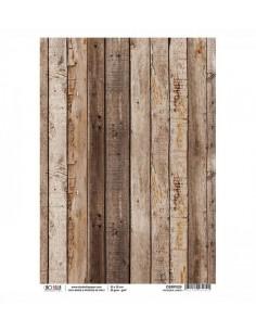 Papel de Arroz Wooden Cabin