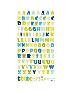 Alfabeto 3D natura multicolor