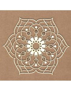 Chipboard Mandala floral
