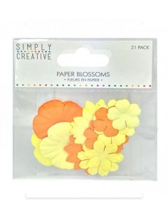 Flores Paper Blossoms Yellow