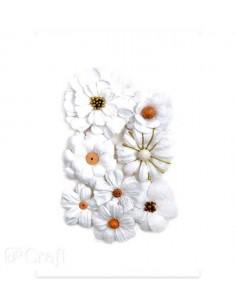 Flores papel white