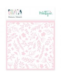 Stencil Mintopía Fondo floral
