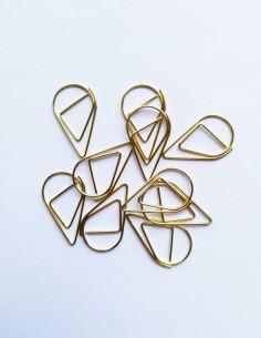 Clips gotas de agua oro