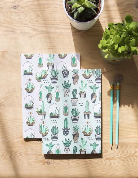 Set de 2 cuadernos Cactus Lover