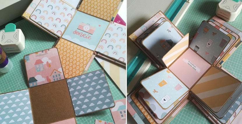 decoración caja explodign box