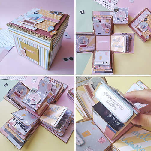 exploding box - scrapbooking